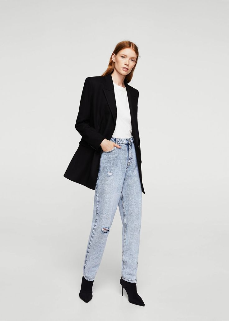 Mom relaxed jeans - Women | MANGO USA