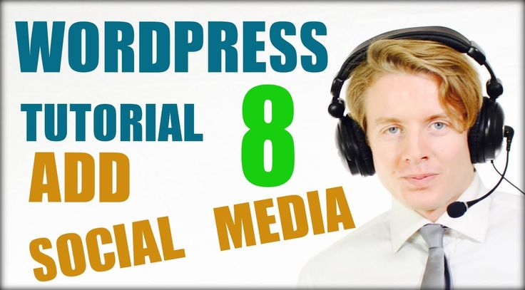 Wordpress tutorial step by step 2016 (Part 8) -  Add Social media