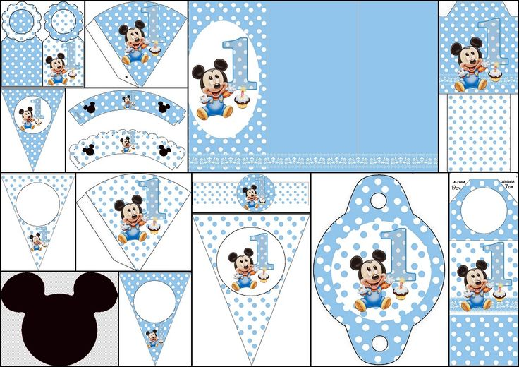 mickey-first-year-with-polka-dots-free-printables2.jpg (1024×724)