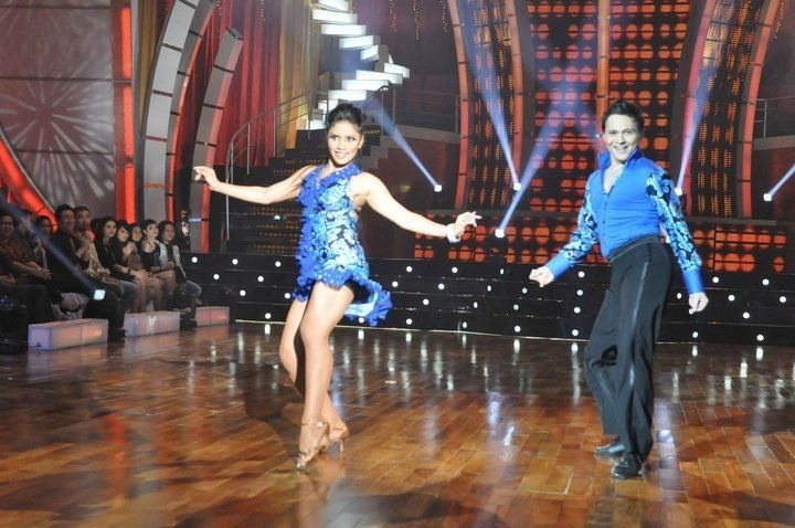 Dancing With The Stars Indonesia, salsa performance with Irvan Ray -- #DWTS #Salsa #IrvanRay