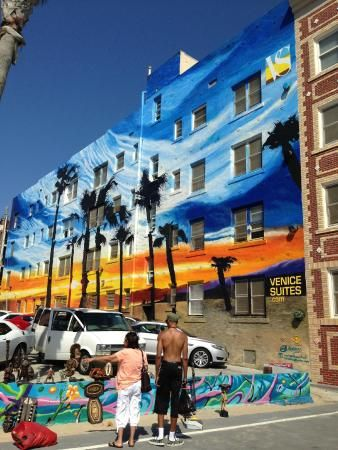 Venice Beach Mural On The Boardwalk July 2017 My Los Angeles Pinterest And