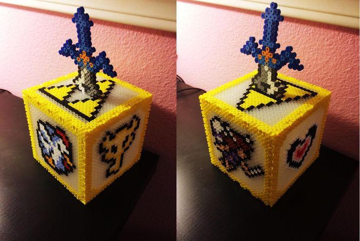 3D Perler Bead Zelda Coin Box!