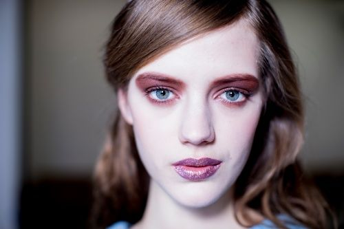 Backstage Beauty at Rodarte: Glitter Lips and Fairy Dust to Wear with the House's Sparkly Coats - Vogue Daily - Fashion and Beauty News and ...