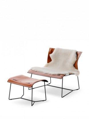 Walter Knoll Cuoio Lounge Chair Mit Hocker | Designermöbel Konstanz