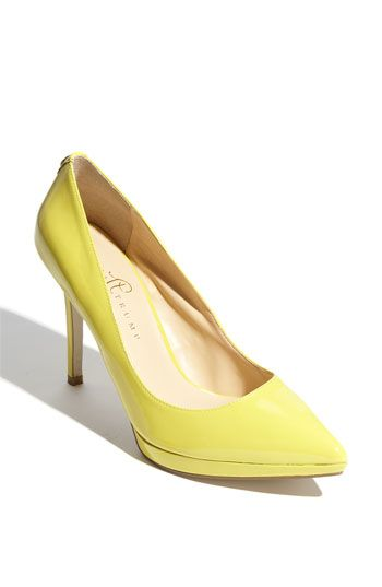 Ivanka Trump 'Margo' Pump in YELLOW! I've always wanted a pair of yellow  pumps :D