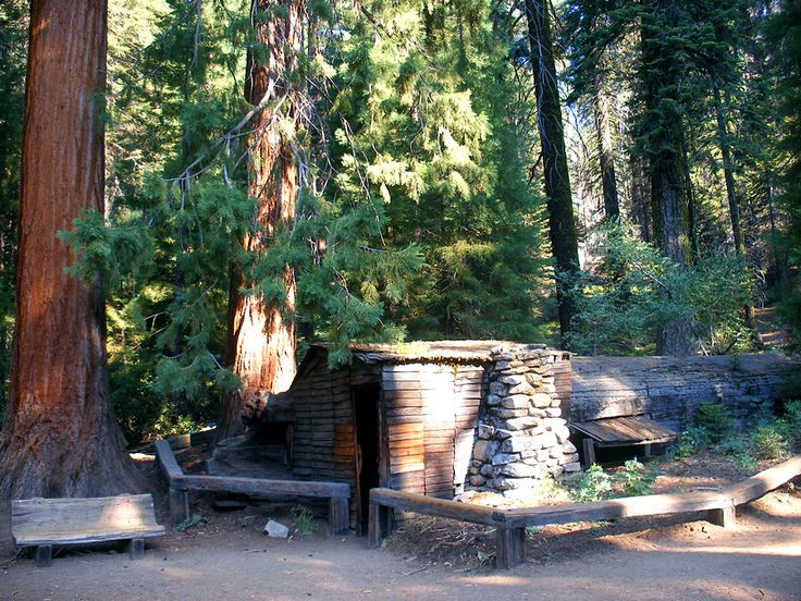 The cabin at Tharps Log, north end of Log Meadow, Sequoia National Park.  Perfect Day: Take a book, a lunch and hang out here for a couple of hours. :)