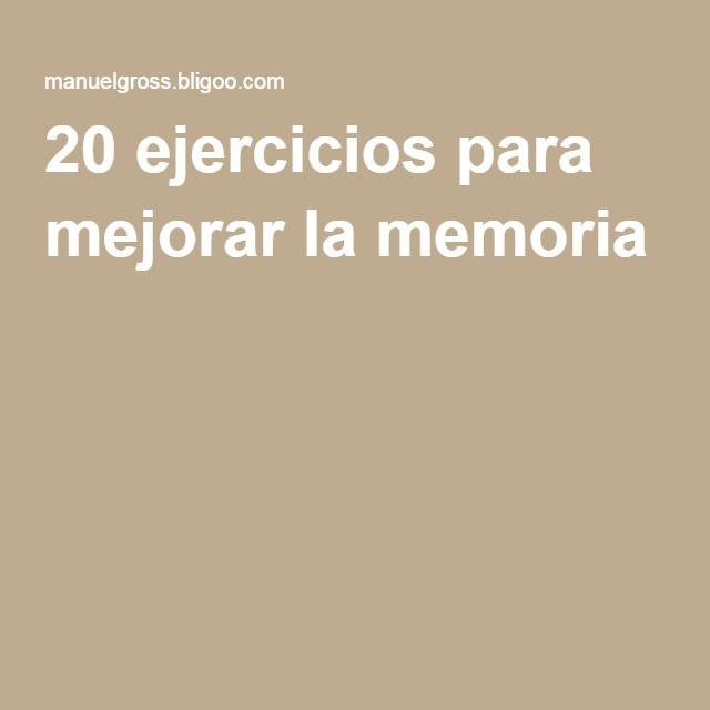 20 ejercicios para mejorar la memoria