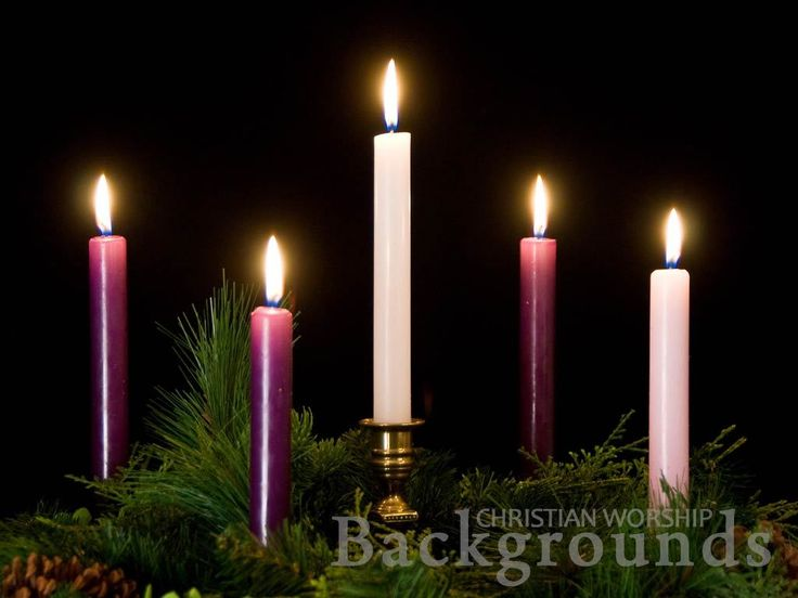 Free Church Motion Loops. Advent Candles Worship