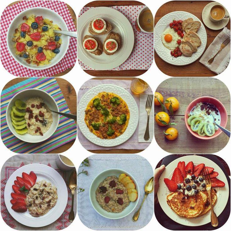 Hoje para jantar ...: Pequenos almoços saudáveis {as receitas}