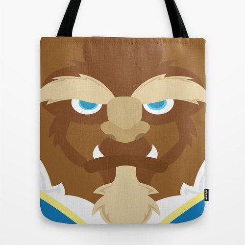 Beauty and the Beast tote bag bag shoulder bag by telahmarie. Love this! The Beast items are hard to find. My birthday is coming up, hmm might have to get.