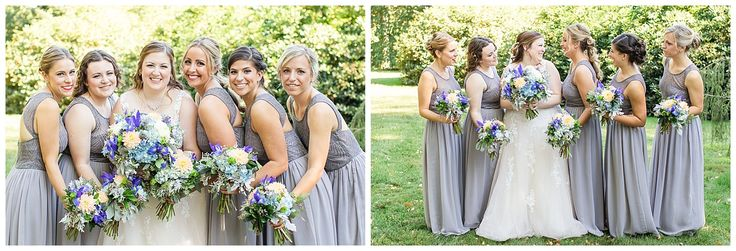 Dusty Blue and Metallic Early August Delaware Wedding at the Carriage House at Rockwood Park | Savannah Smith Photography