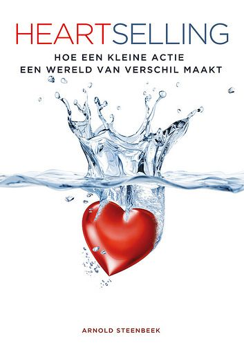 #GrafischOntwerp boekomslag '#Heartselling' (#ArnoldSteenbeek) #boek #book #GraphicDesign #LikeableDesign