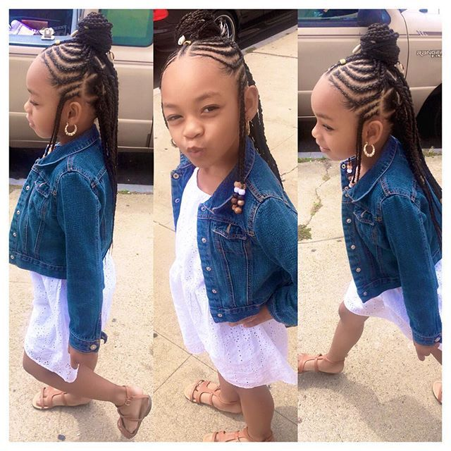 On the go as usual she has to much energy  @braids_bylauren__ did that
