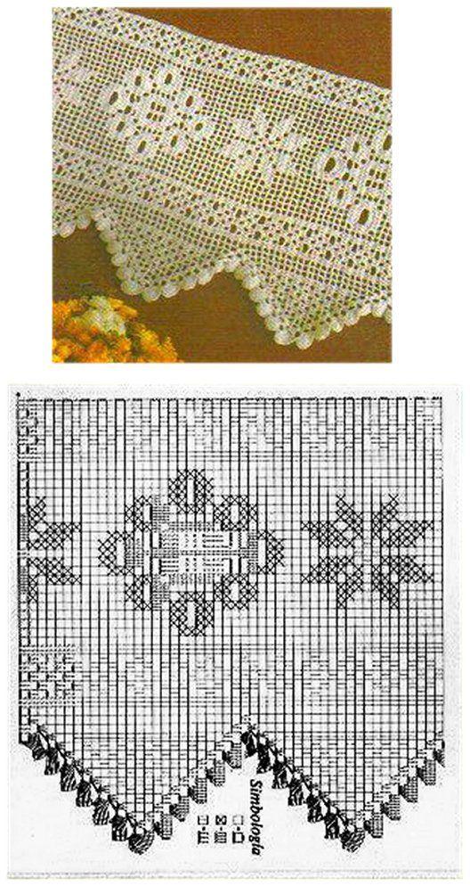 PORTAL DOS CROCHÊS: BARRADOS DE CROCHÊ FILÉ | tejido a crochet ...
