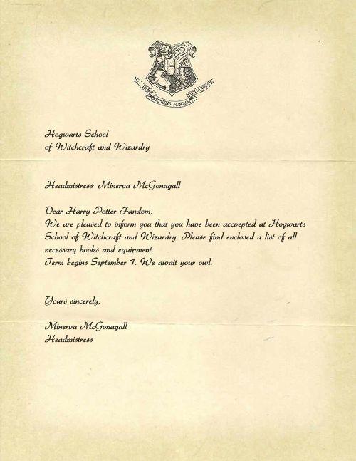 Harry Potteru0027s acceptance letter to Hogwarts Still waiting for - hogwarts acceptance letter