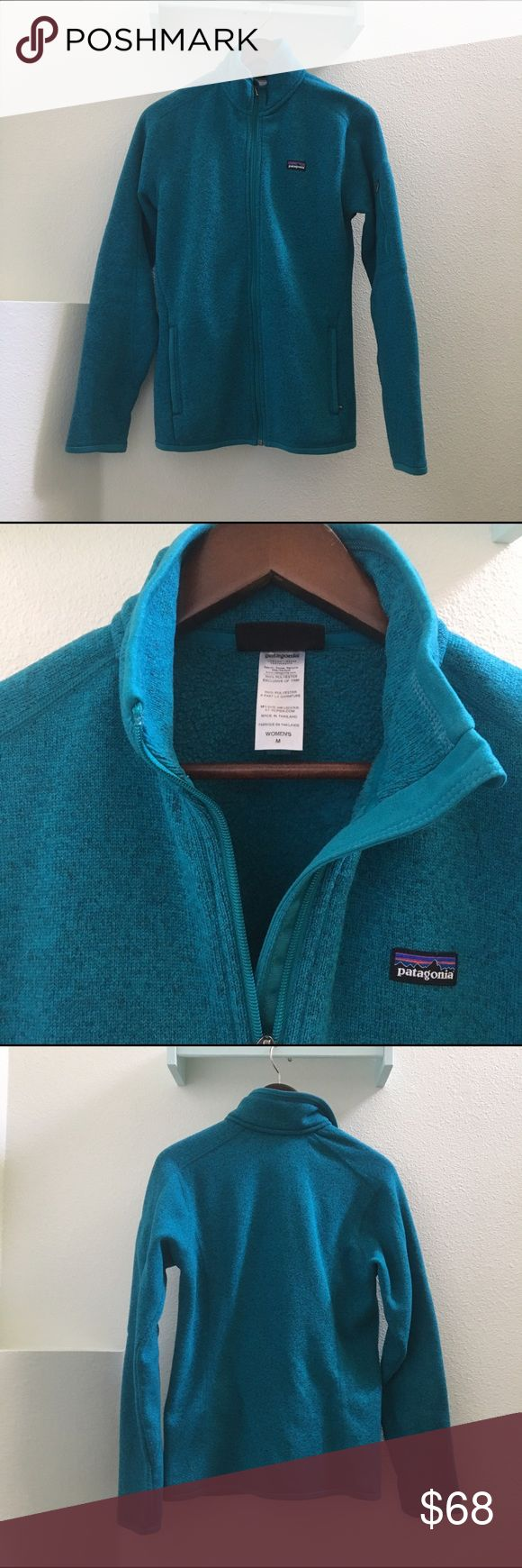 Patagonia women's zip up sweater NO TRADES!   Patagonia women's better sweater in a past season color. Size medium. Sweater is in excellent condition with the exception of some piling on the sleeves. This is a great quality sweater and I really hate giving it up   Smoke/pet free home, all sales final.  I have zero control of shipping once in the hands of USPS. Patagonia Sweaters