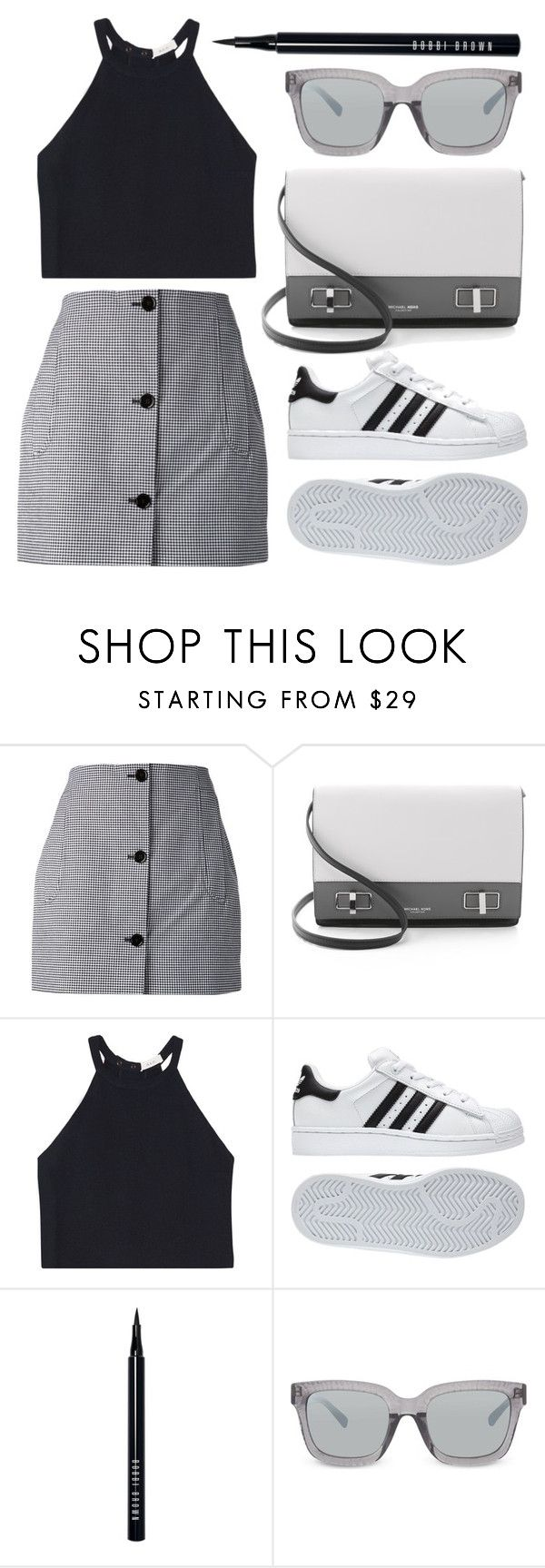 """""""I GOTTA GO."""" by shanelala ❤ liked on Polyvore featuring Carven, Michael Kors, A.L.C., adidas, Bobbi Brown Cosmetics and 3.1 Phillip Lim"""