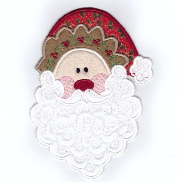 ITH Santa -An in the hoop project done on the embroidery machine. Design created by JHB Creations and design can be purchased here http://www.oregonpatchworks.com/items.php?did=113482&pid=1600249