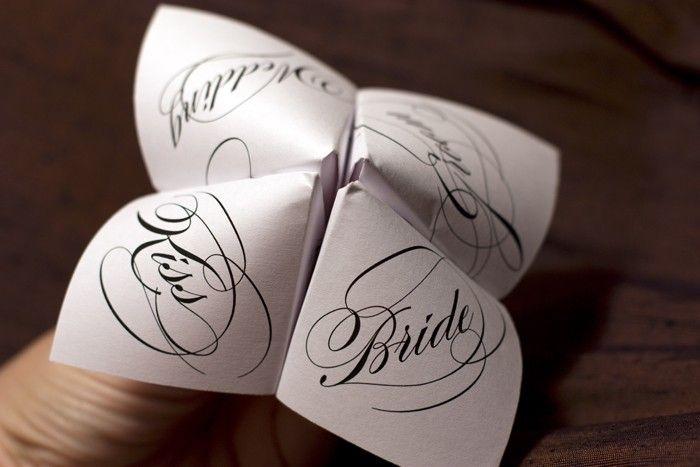 Print Your Own - Cootie Catcher - Wedding Favor. $10.00, via Etsy.