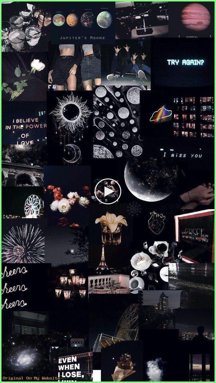 Aesthetic Wallpaper Tumblr Black