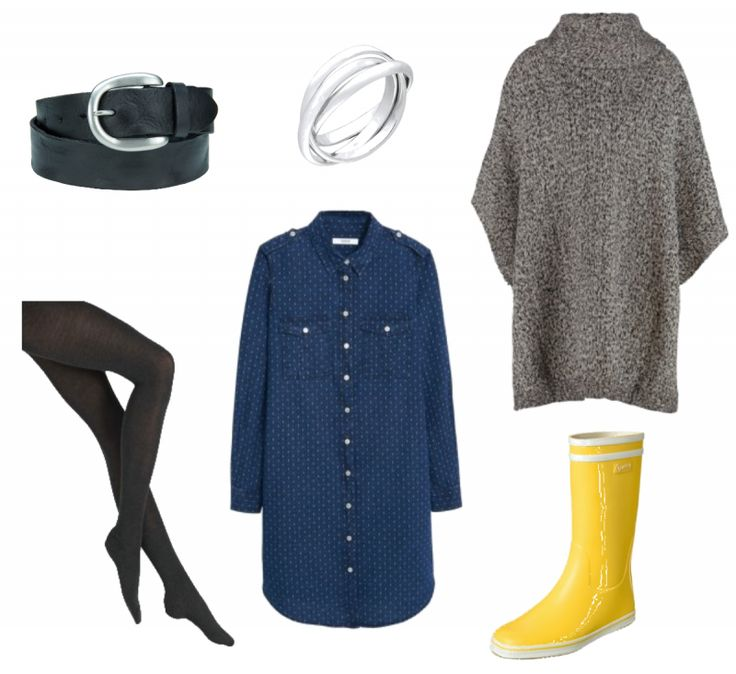 #Herbstoutfit Gummistiefel ♥ #outfit #Damenoutfit #outfitdestages #dresslove