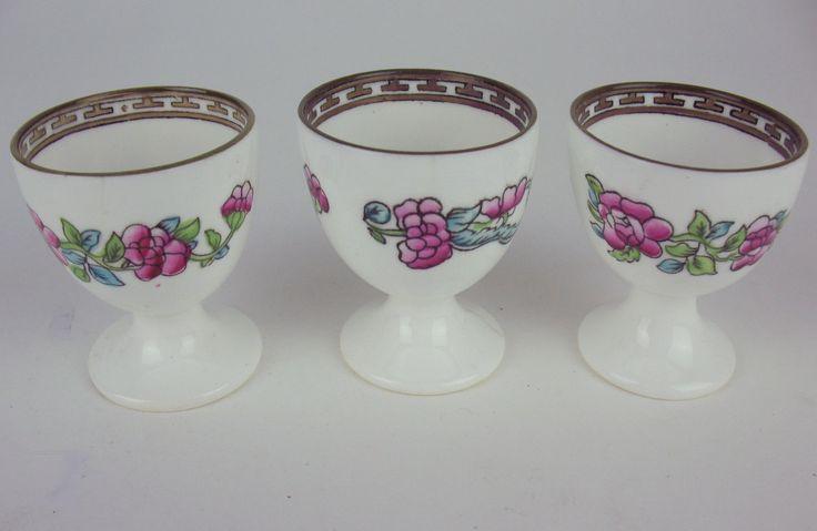 3 x Egg Cups Coalport Indian Tree Vintage England Multicolored | eBay