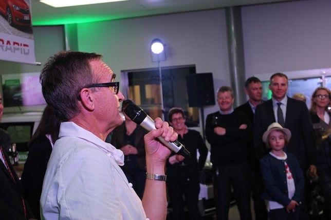 Ray McVinnie at the launch of the new ŠKODA Rapid Spaceback in our ŠKODA showroom, Christchurch.  #skoda #raymcvinnie #chefs #nz #newzealand #skoda #cars