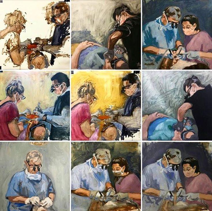 surgery series, oil on canvas. Artist: mai thi tran