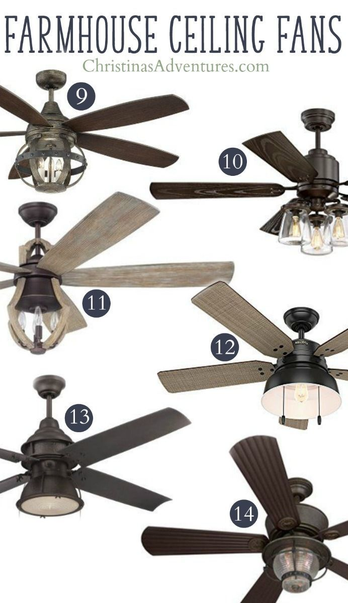 Unique farmhouse ceiling fans - these will add to your home decor and not detract from it!
