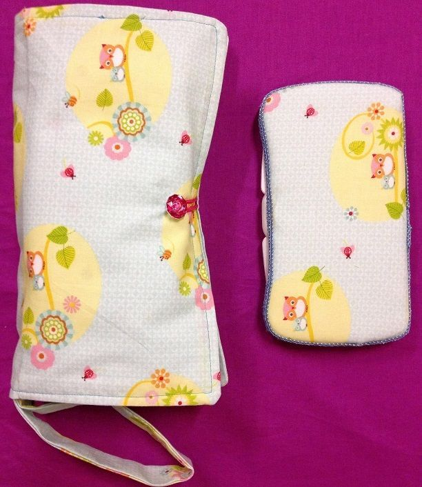 Nappy Clutch/Wallet  with matching wipes case