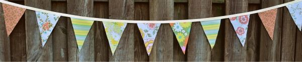 DIY Vintage Banner.  Super cute photo prop and decoration for parties- and EASY to make too!