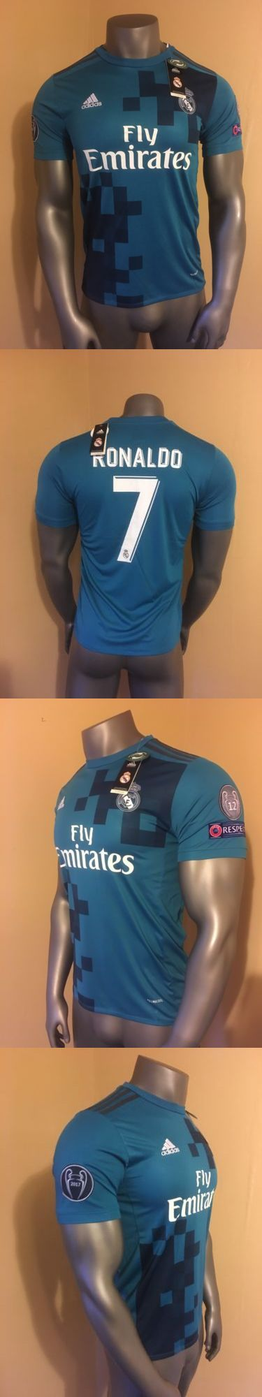 Soccer-International Clubs 2887: Real Madrid Blue Cristiano Ronaldo 3Rd Kit Champions League Soccer Jersey 2018 -> BUY IT NOW ONLY: $49.99 on eBay!