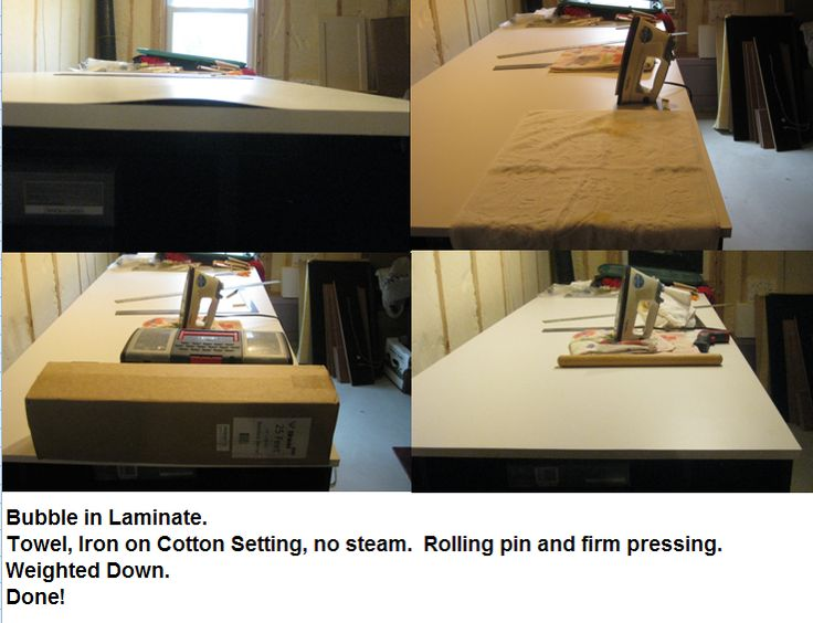 How To Fix A Bubble In A Laminate Countertop Or Work Table Top