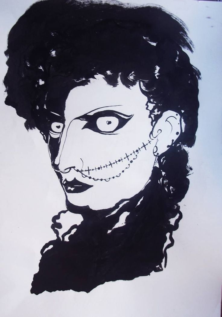 "Saatchi Art Artist Gella Goring; Drawing, ""Goth"" #art"