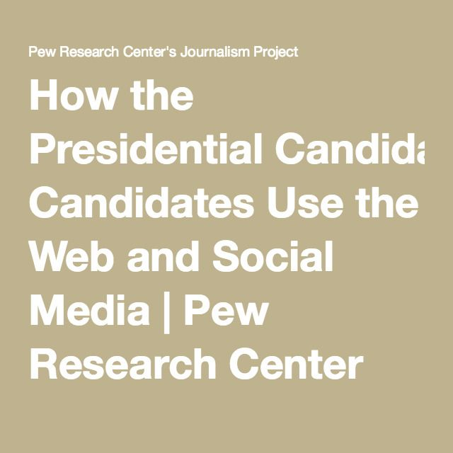 Published in 2012, this article examines how the presidential candidates Barrack Obama and John Mccain used social media to their advantage to disadvantage. Its interesting to compare the findings here to the current political race.