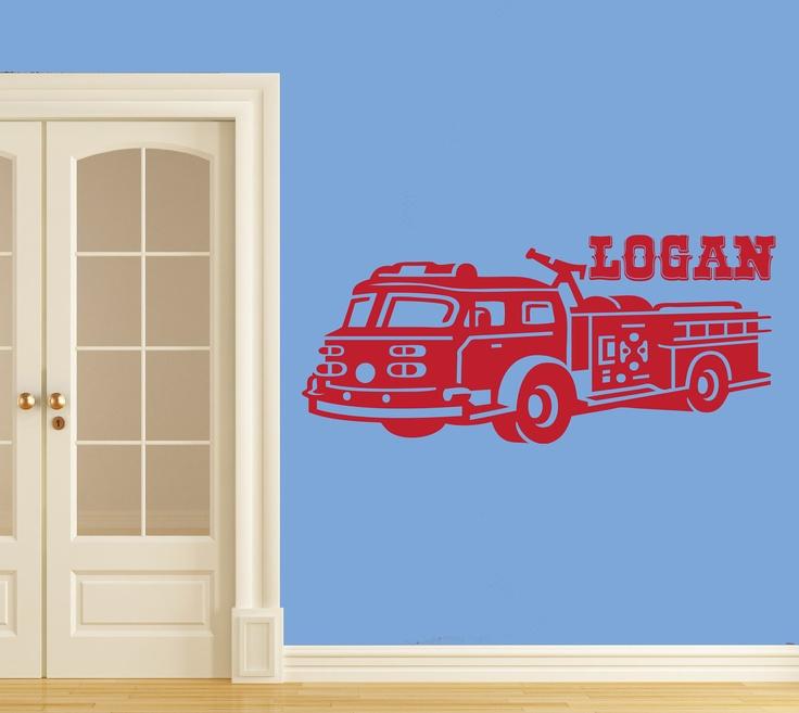 36 best Firefighter kids bedroom images on Pinterest Firetruck