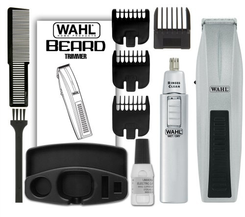 the wahl mustache and beard w bonus trimmer includes 5 position guide 3 standard trimmer. Black Bedroom Furniture Sets. Home Design Ideas