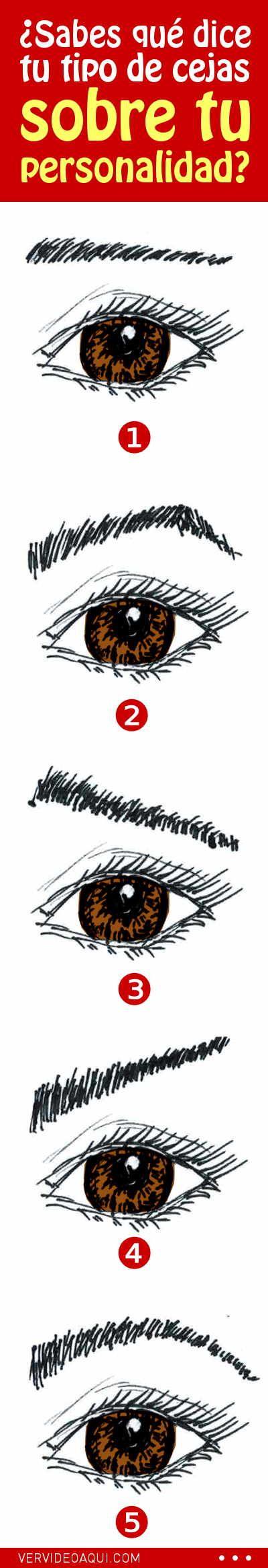 ¿Sabes qué dice tu tipo de cejas sobre tu personalidad? #personalidad #humano #cejas #mujer #curiosidades
