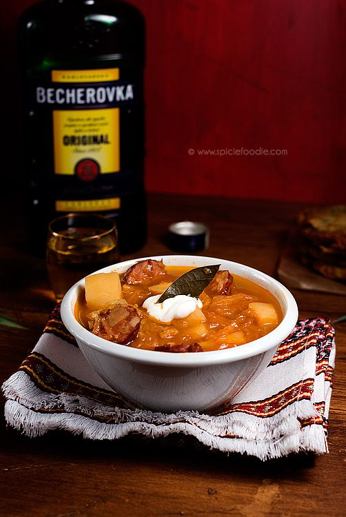 Zelnečka: Czech Cabbage Soup (with Vegan option) | Czech Recipes on Spicie Foodie
