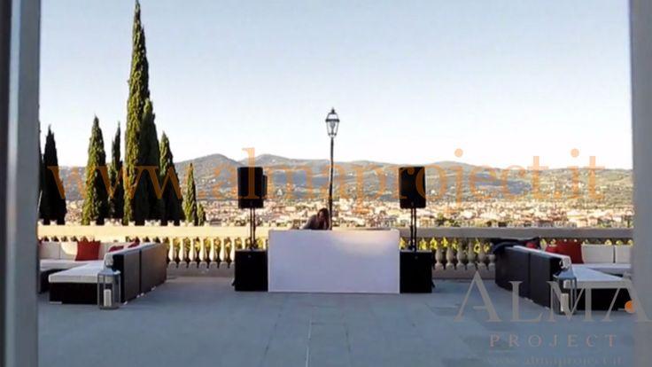 ALMA PROJECT @ Villa La Vedetta - audio setup EVA console white - EV sub - terrace guest deejay set dj 333