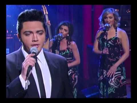 I am not a fan of Elvis impersonators because frankly there is only on Elvis but this guy is so good.-Letterman 2.6.2013.  I saw this on Letterman however this video is slow in conjunction with the audio but it is him singing it was spot on during letterman.