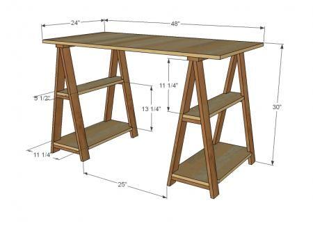A mesa do quarto de estudos