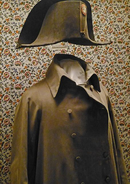 Napoleon's campaign hat and overcoat at Fontainebleau