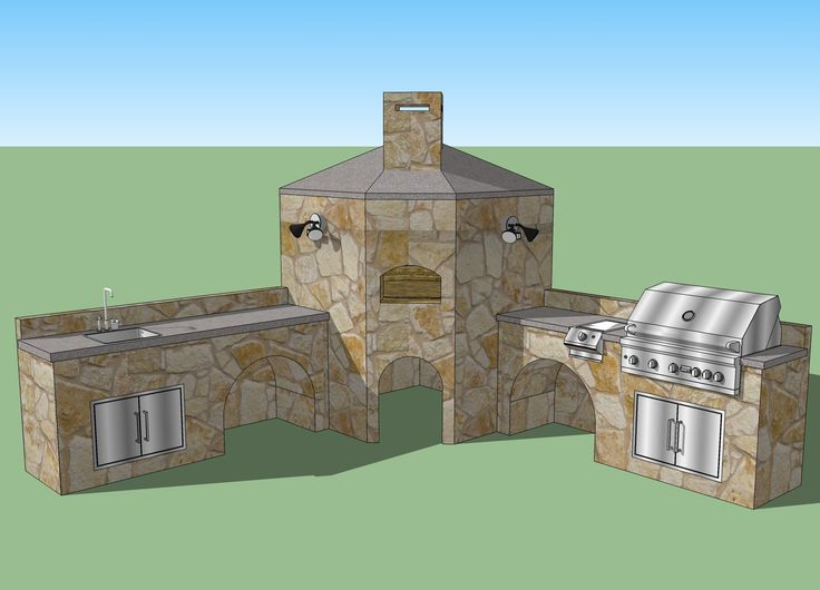 17 best images about brick stone bbq on pinterest for Brick outdoor kitchen designs