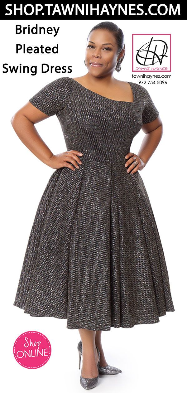66c81c8287df Tawni Haynes Bridney Pleated Swing Dress As Shown Glitter Knit - Black w/  Rainbow Glitter