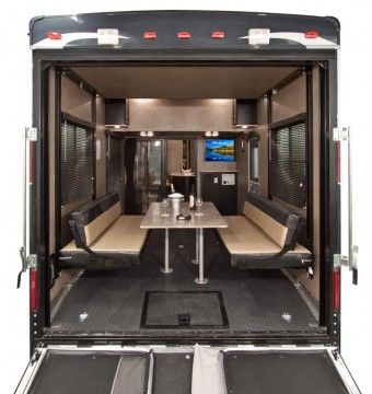16 best rv trailer images on pinterest camp trailers for Motor home toy hauler