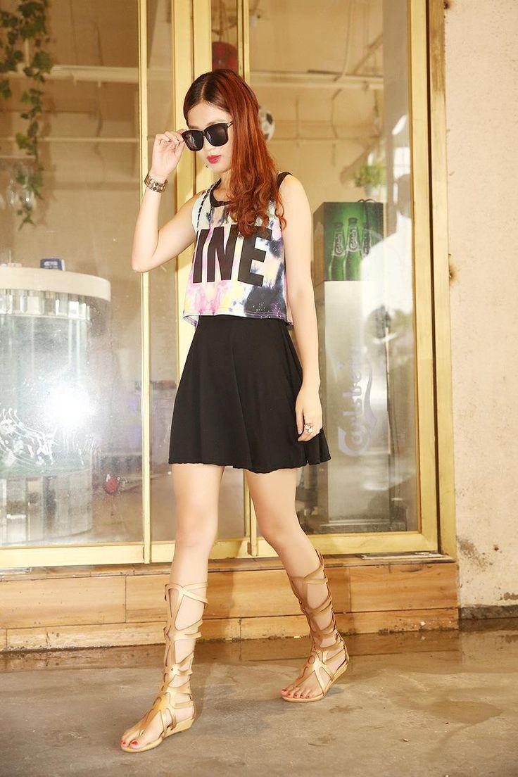 Aliexpress.com: Comprar 2015 del estilo del verano mujeres sandalias botas del corte del Laser de arranque sandalias romanas ahuecan mujer sandalia zapatos de mujer WL996 de zapatos de raso fiable proveedores en Mia's Fashion store