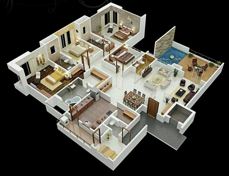 8 best نقشه خونه images on Pinterest 3d house plans, Apartments - plan de maison 3d gratuit