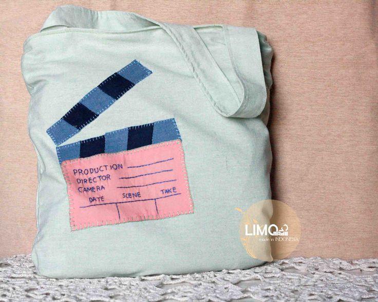 Clapper | 65K | bahan: belacu, soft jeans, ero | check this limo-made.blogspot.com #handmade #totebag #limitededition #semarang #indonesia #limomade