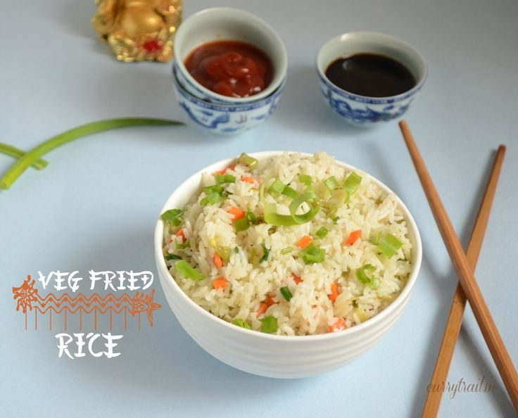 Veg Fried Rice | Chinese style veg fried rice recipe with step by step pictures